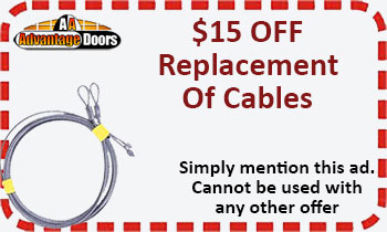 Garage door cable replacement